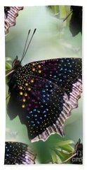 Butterfly Sunbath #2 Beach Sheet