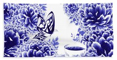 Butterfly Teatime Beach Towel
