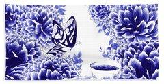Butterfly Teatime Beach Towel