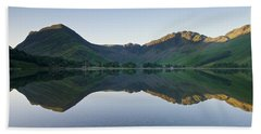 Buttermere Reflections Beach Towel by Stephen Taylor