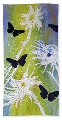 Butteryfly Flutter Beach Towel by Elvira Ingram