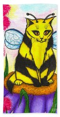 Buzz Bumble Bee Fairy Cat Beach Towel