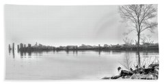 Bw Peaceful  Beach Towel by Chuck Kuhn