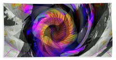 Beach Towel featuring the digital art Bw Rose by Visual Artist Frank Bonilla