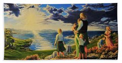 By God's Grace Beach Towel