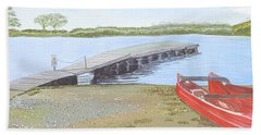 By The Lake Beach Sheet by Joanne Perkins
