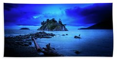 Beach Towel featuring the photograph By The Light Of The Moon by John Poon