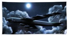 Beach Towel featuring the painting By The Light Of The Silvery Moon by Dave Luebbert
