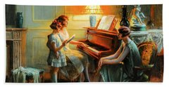 By The Piano Beach Towel