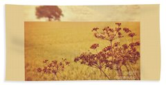 Beach Towel featuring the photograph By The Side Of The Wheat Field by Lyn Randle