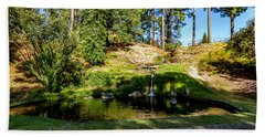 Beach Towel featuring the photograph By The Water by Ken Frischkorn