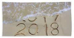 Bye Bye 2017 Welcome2018 Beach Sheet