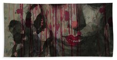 Beach Towel featuring the painting Bye Bye Blackbird by Paul Lovering