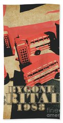 Bygone Britain 1983 Beach Towel
