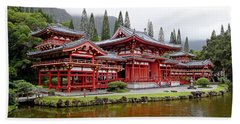 Byodo-in Temple Oahu Beach Towel