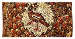 Beach Towel featuring the digital art Byzantine Bird by Asok Mukhopadhyay