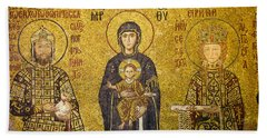 Byzantine Mosaic In Hagia Sophia Beach Towel