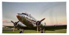 C-47 At Dusk Beach Towel