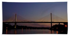 C And D Canal Bridge Beach Towel