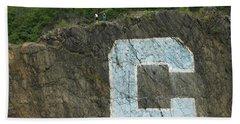 C Rock Of Columbia University Beach Towel