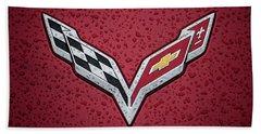 C7 Badge Red Beach Towel