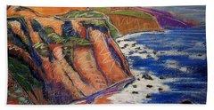 Ca Coastal Sketch Beach Towel