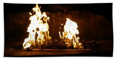 Cabana Fire  Beach Towel