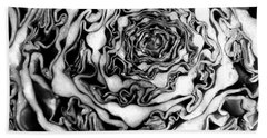 Cabbage Fractal Photograph Beach Towel by Kristen Fox
