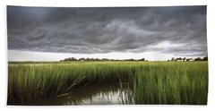 Cabbage Inlet Cold Front Beach Towel by Phil Mancuso