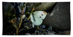 Beach Towel featuring the photograph Cabbage White Butterfly by Tikvah's Hope
