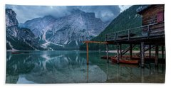 Cabin By The Lake Beach Towel