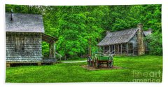 Beach Towel featuring the photograph Cabin Fever Great Smoky Mountains Art by Reid Callaway