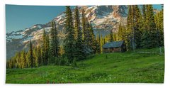 Cabin On The Hill Beach Towel