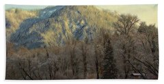 Cabin On The Skagit River Beach Towel