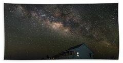 Cabin Under The Milky Way Beach Sheet