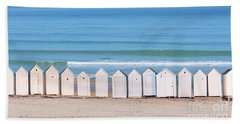 Beach Towel featuring the photograph Cabins by Delphimages Photo Creations