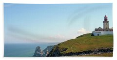 Cabo Da Roca Lighthouse Portugal Beach Sheet