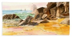 Cabo San Lucas Beach Towel by Larry Hamilton