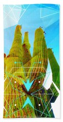 Cacti Embrace Beach Towel