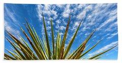 Cactus And Blue Sky Beach Sheet by Amyn Nasser