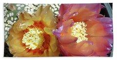 Cactus Flower 3 Beach Sheet