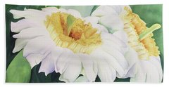 Beach Sheet featuring the painting Cactus Flower by Teresa Beyer