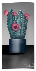 Cactus In Bloom I  Beach Towel