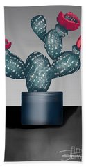 Cactus In Bloom II Beach Towel