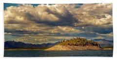 Beach Towel featuring the photograph Cactus Island by Robert FERD Frank