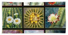 Beach Towel featuring the painting Cactus Series by Marilyn Smith