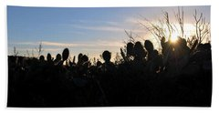 Beach Sheet featuring the photograph Cactus Silhouettes by Matt Harang