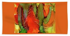 Cactus Beach Towel by Yolanda Koh