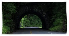 Beach Towel featuring the photograph Cades Cove Entrance by Andrea Silies