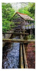 Cades Cove Grist Mill In The Great Smoky Mountains National Park  Beach Towel
